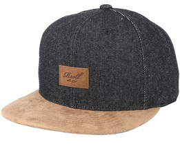 Suede 6-Panel Dark Denim Snapback - Reell