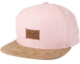 Suede 6-Panel Greyish Pink Slub Snapback - Reell