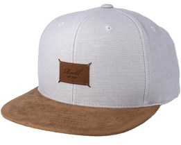 Suede 6-Panel Light Grey Slub Snapback - Reell