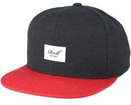 Pitchout 6-Panel Black/Red Snapback - Reell