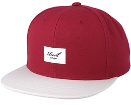 Pitchout 6-Panel Maroon/Light Grey Snapback - Reell