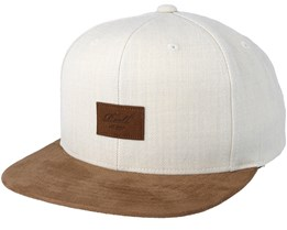 Suede 6-Panel Heather Grey Snapback - Reell