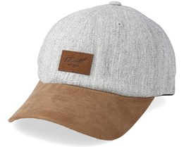 Curved Suede Heather Light Grey/Brown Adjustable - Reell