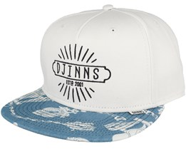 Crazy Pattern White Anchor Snapback - Djinns
