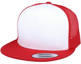 Classic Trucker White/Red Snapback - Yupoong