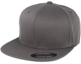 Flat Brim Dark Grey Fitted - Yupoong