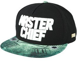Master Chief Black Snapback - Hands Of Gold