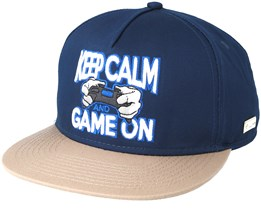 Game On Navy Snapback - Hands Of Gold
