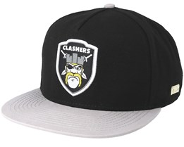 Hog Clashers Black/Grey Snapback - Hands Of Gold