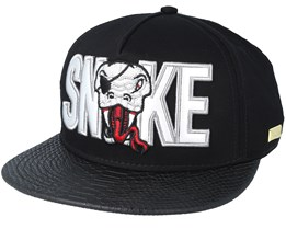 Snake Black/Silver Snapback - Hands Of Gold