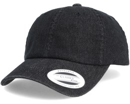 Dad Cap Washed Black Adjustable - Yupoong