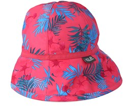Kids Yuba Hat Girls Hot Pink All over Bucket -Jack Wolfskin