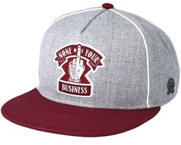 Business Grey/Maroon Snapback - Cayler & Sons
