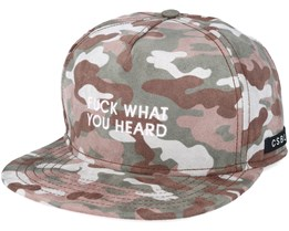 What You Heard Camo Snapback - Cayler & Sons