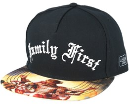 Family First Black Snapback - Cayler & Sons