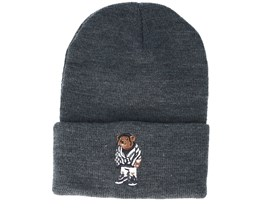 Purple Swag Old School Dark Heather Grey Beanie - Cayler & Sons