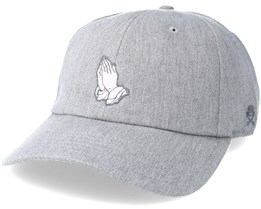 Mercy Curved Heather Grey Adjustable - Cayler & Sons