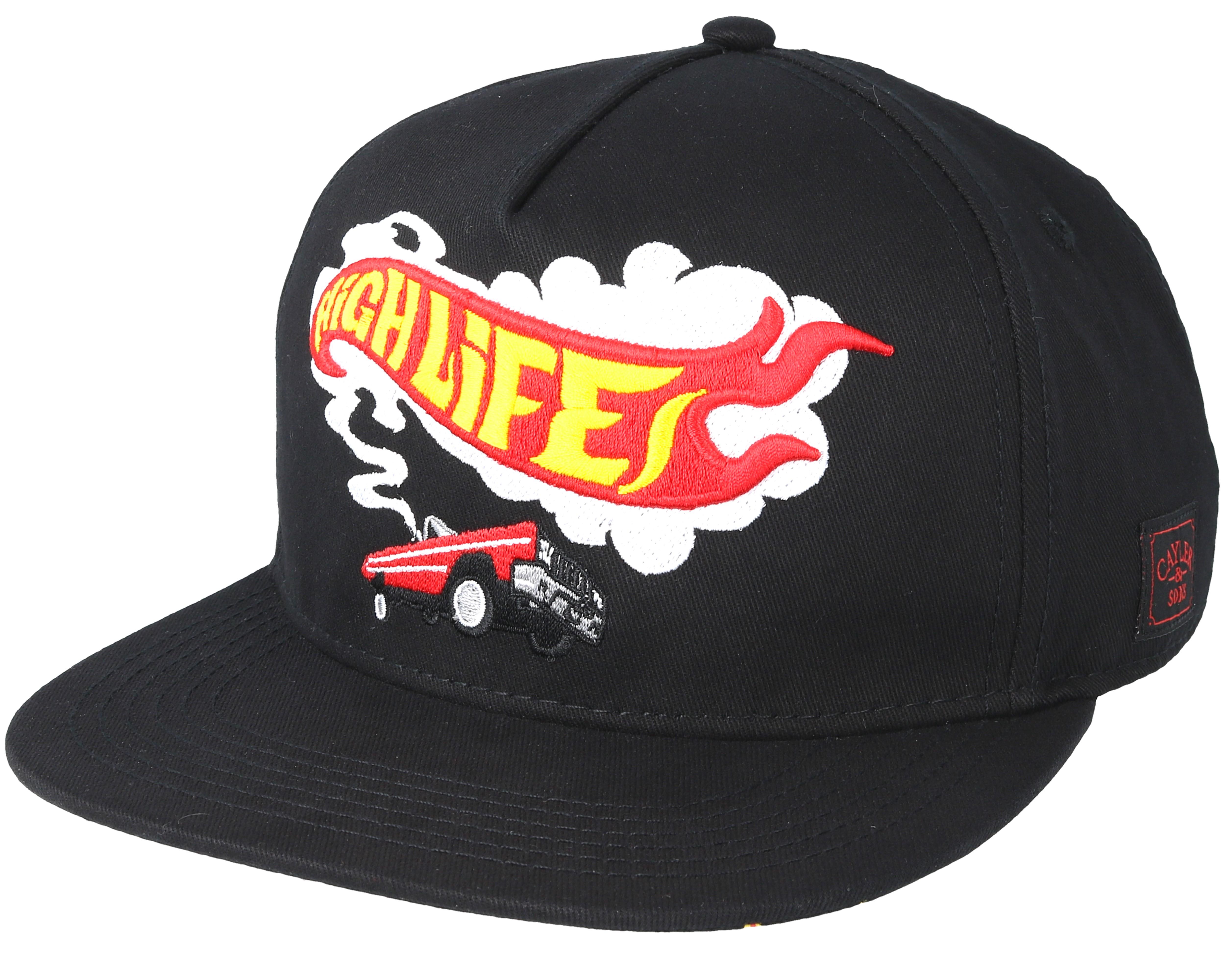 Burnout Black Snapback - Cayler   Sons caps - Hatstore.no 0a8b26480bf