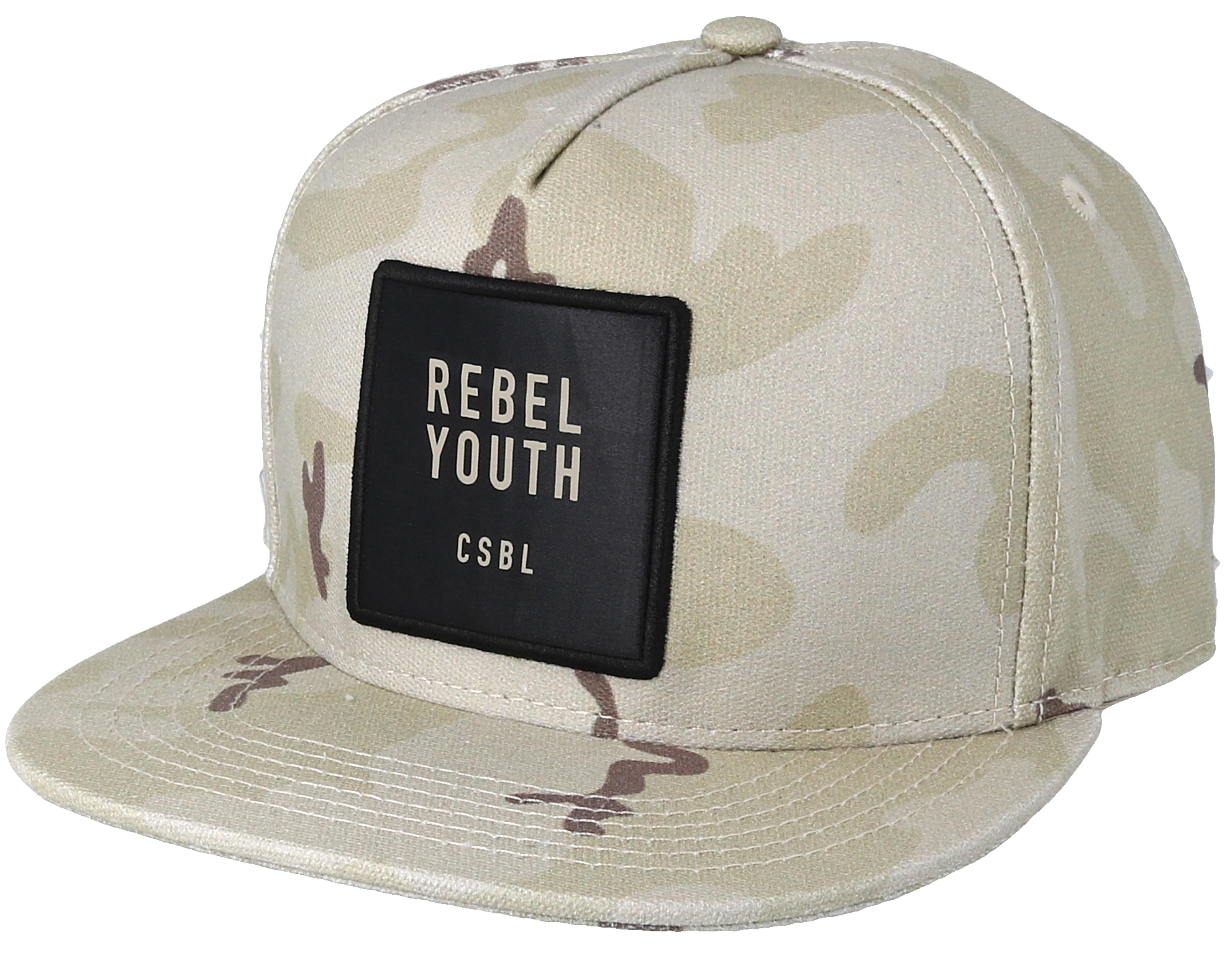 da2d7d8a9e8 Rebel Youth Desert Camo Snapback - Cayler   Sons caps