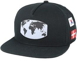 Worldwide Black Snapback - Cayler & Sons