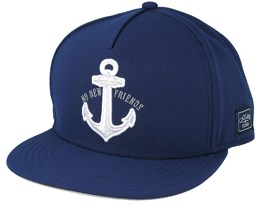 Stay Down Curved Navy Snapback - Cayler & Sons
