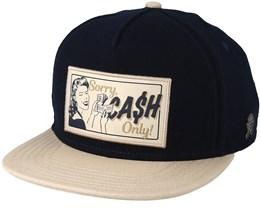 Cash Only Navy/Sand Snapback - Cayler & Sons