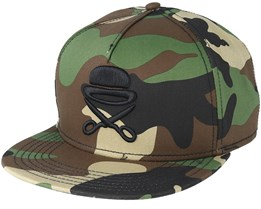 Pa Icon Woodland Camo/Black Snapback - Cayler & Sons