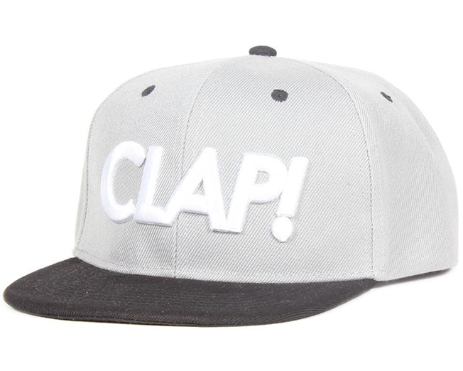 Clap Grey/Black Snapback - Somewear