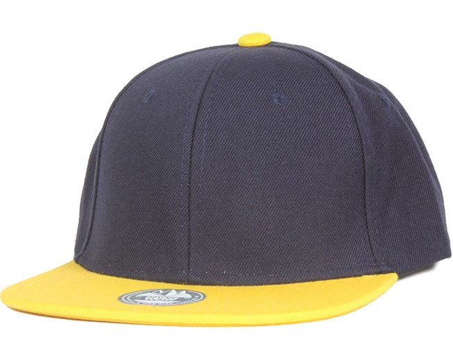 TWO TONE Dark Navy/Yellow Snapback - State Of Wow