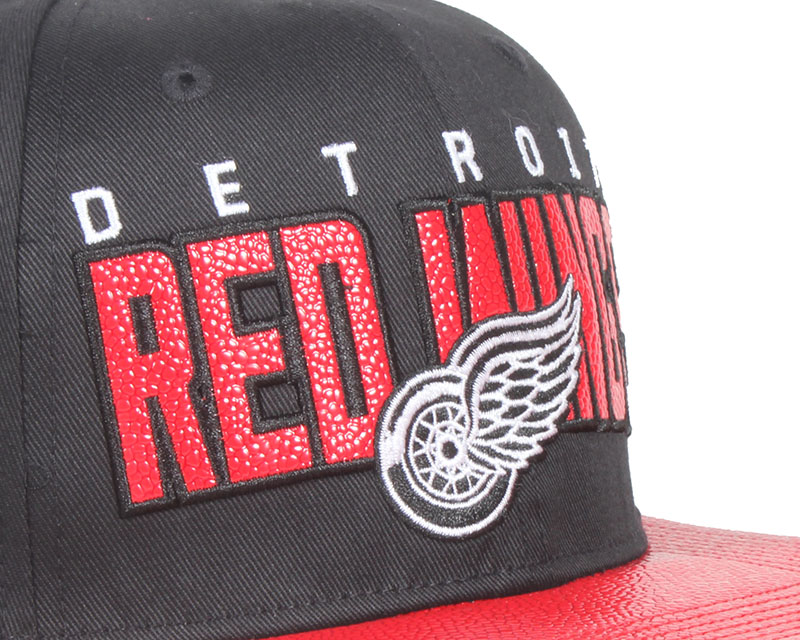 detroit red wings redondo black snapback 47 brand casquette. Black Bedroom Furniture Sets. Home Design Ideas