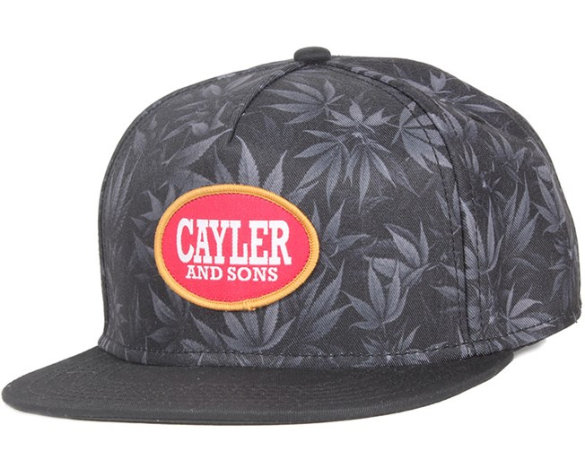 Blunted 2-Tone Black Snapback - Cayler & Sons