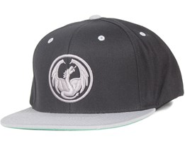 Icon Black/Grey Snapback - Dragon
