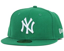 NY Yankees MLB Basic Green/White 59Fifty - New Era