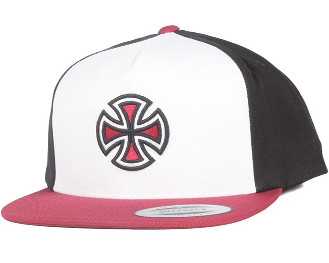 Crossbar Red/Black/White Snapback - Independent
