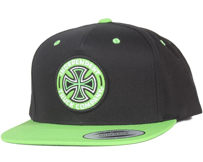 Coloured Tc Black/Green Snapback - Independent