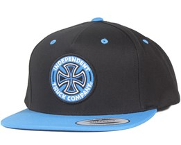 Coloured Tc Black/Blue Snapback - Independent