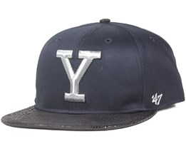 Yale University Juli Gunk Black/Silver Strapback - 47 Brand