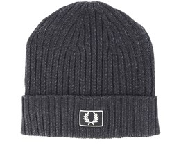 Stadium Cotton Black Beanie - Fred Perry