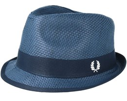 Straw Navy Trilby - Fred Perry