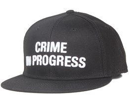 Crime Black Snapback - Space Monkey