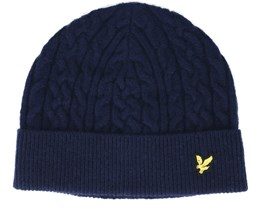 Cable Navy Beanie - Lyle & Scott