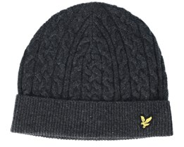 Cable Charcoal Beanie - Lyle & Scott