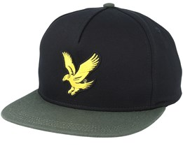 Colour Block Baseball True Black Snapback - Lyle & Scott