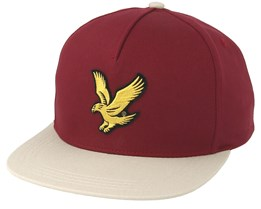 Colour Block Baseball Claret Jug/Light Stone Snapback - Lyle & Scott