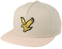 Colour Block Baseball Light Stone/Dusty Pink Snapback - Lyle & Scott