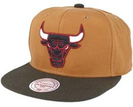 Chicago Bulls Signature Tan Snapback - Mitchell & Ness