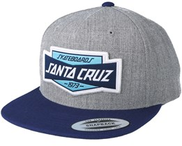 Unit Dark Heather Grey Snapback - Santa Cruz