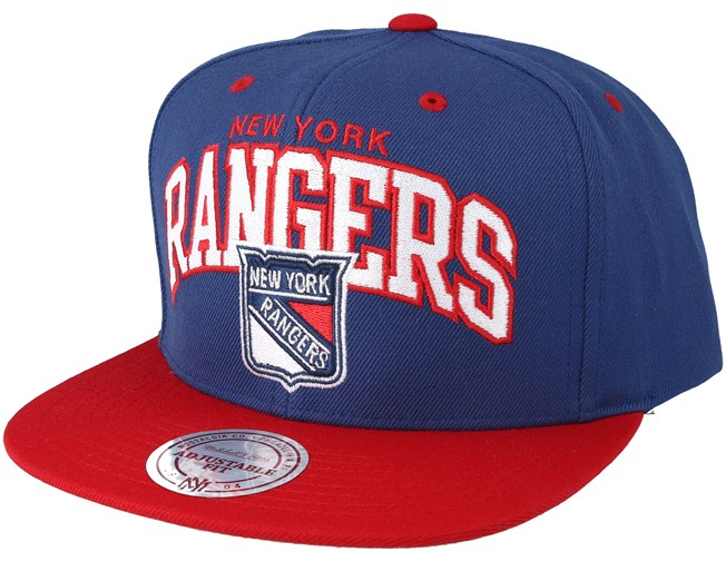 competitive price 60ea8 ad3da release date new york rangers 2 tone team arch blue red snapback mitchell  ness caps hatstore