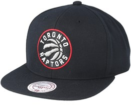 Toronto Raptors Wool Solid Black Snapback - Mitchell & Ness