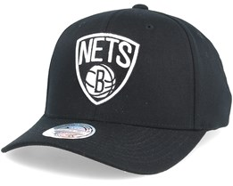 Brooklyn Nets Black & White 110 Adjustable - Mitchell & Ness